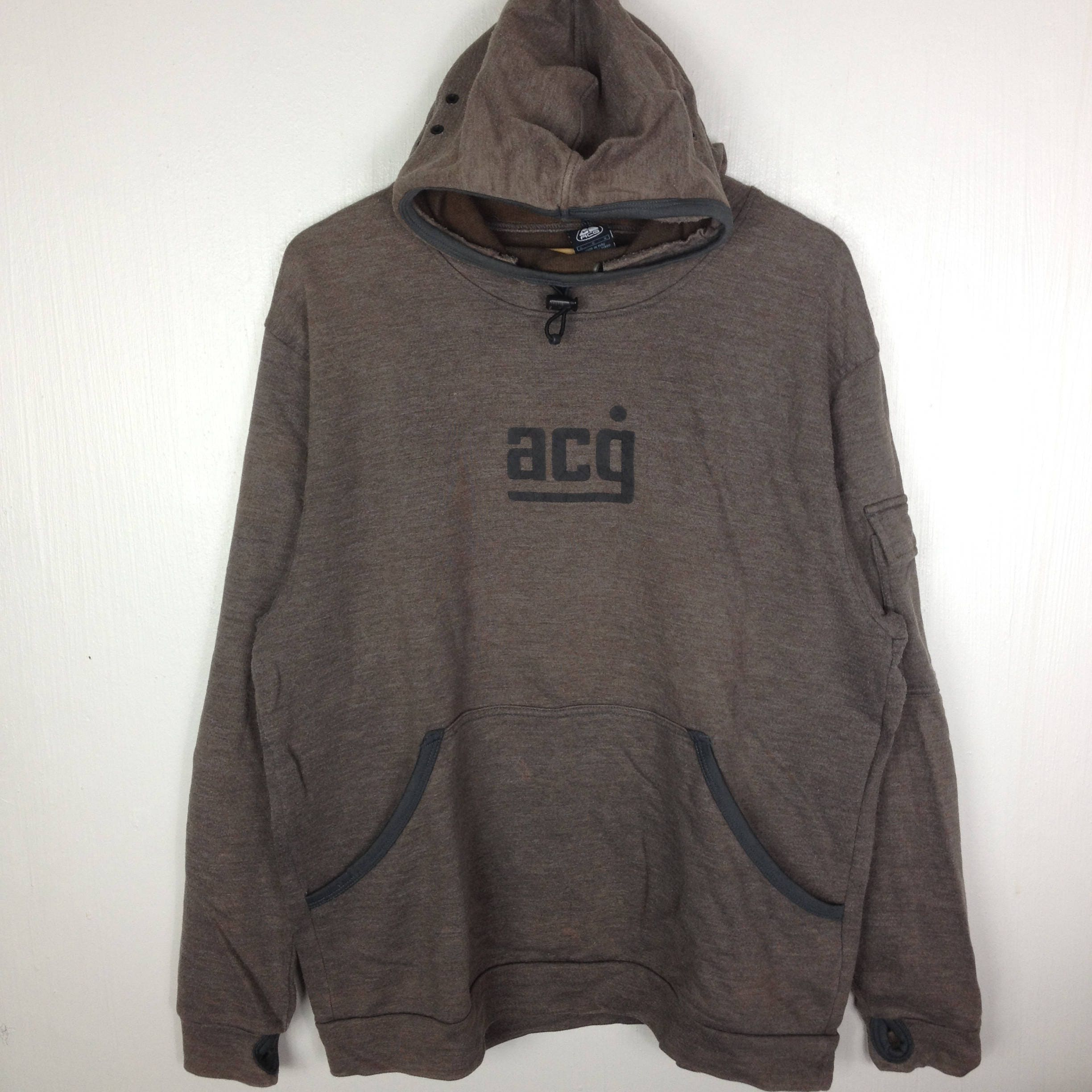 NIKE ACG All Conditions Gear Brown Hoodie Sweatshirt Large  46a4e218fdf3