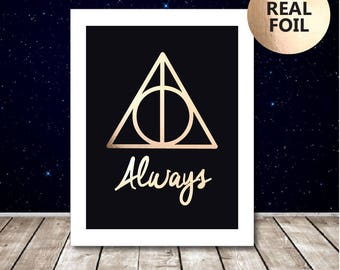 Harry Potter Always Print - Harry Potter Poster - Harry Potter Picture - Harry Potter Quote - Harry Potter Art -  Snape Deathly Hallows