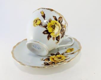 Cup and Saucer, Bone China, England