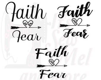 Faith over Fear (3) svg dxf and png files