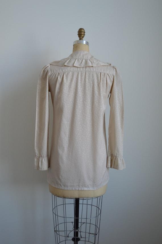 Françoise peasant blouse - vintage 1970s romantic… - image 6