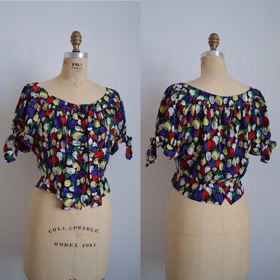 Lolita Lempicka blouse - vintage 1990s scoop neck
