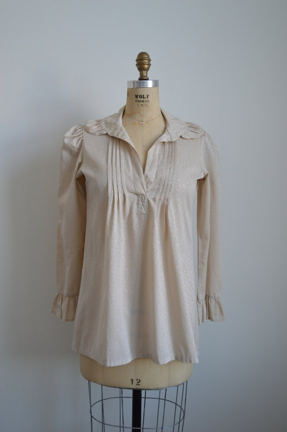 Françoise peasant blouse - vintage 1970s romantic… - image 2