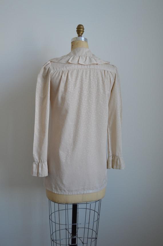 Françoise peasant blouse - vintage 1970s romantic… - image 5