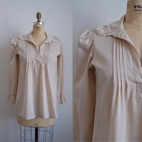 Françoise peasant blouse - vintage 1970s romantic