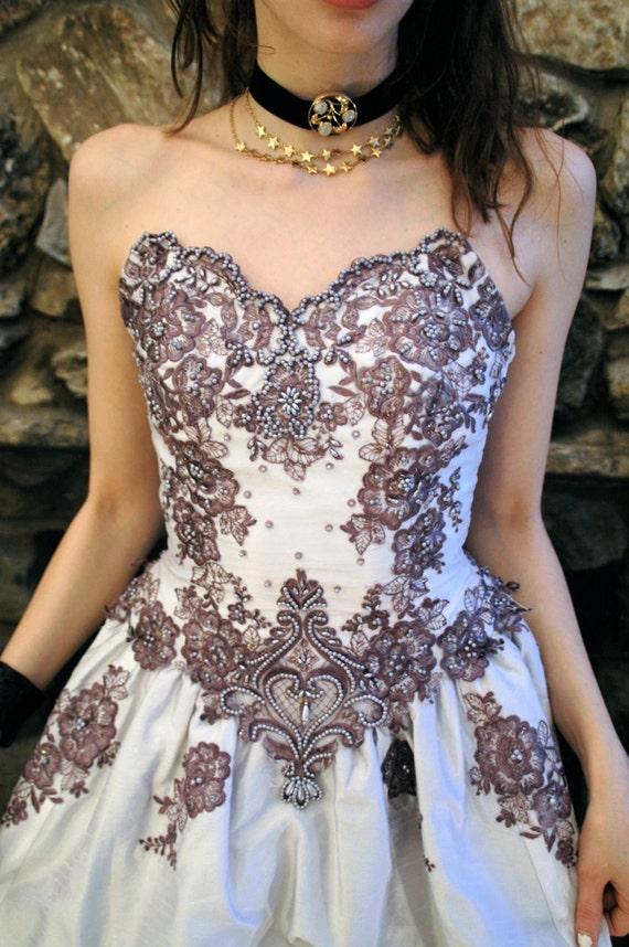 Lilac repurposed wedding dress - image 2