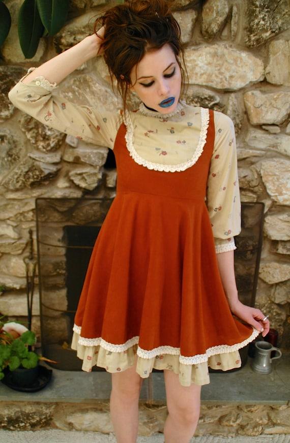 Lolita Rust Mini Dress