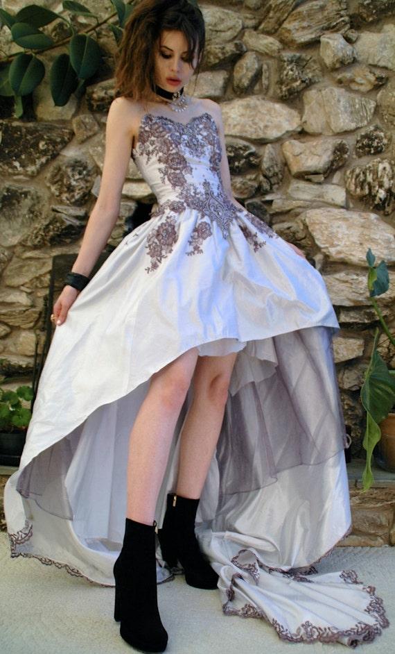 Lilac repurposed wedding dress - image 3