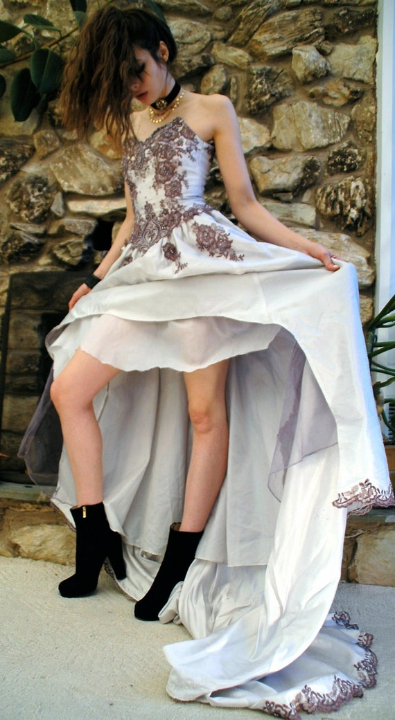 Lilac repurposed wedding dress - image 5