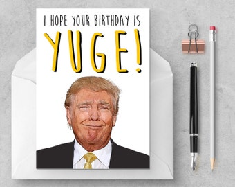 Donald Trump Yuge Card