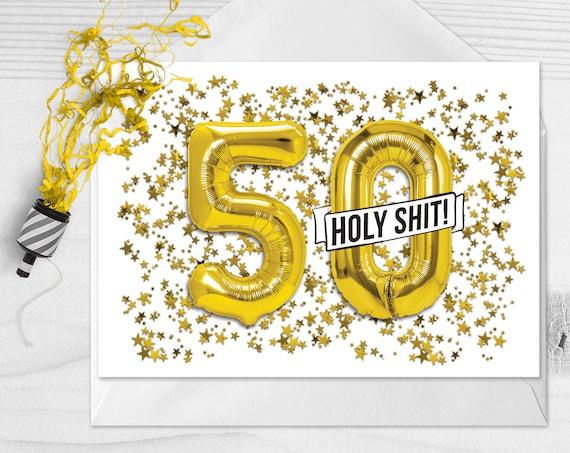 50th Birthday Card Funny Fifty