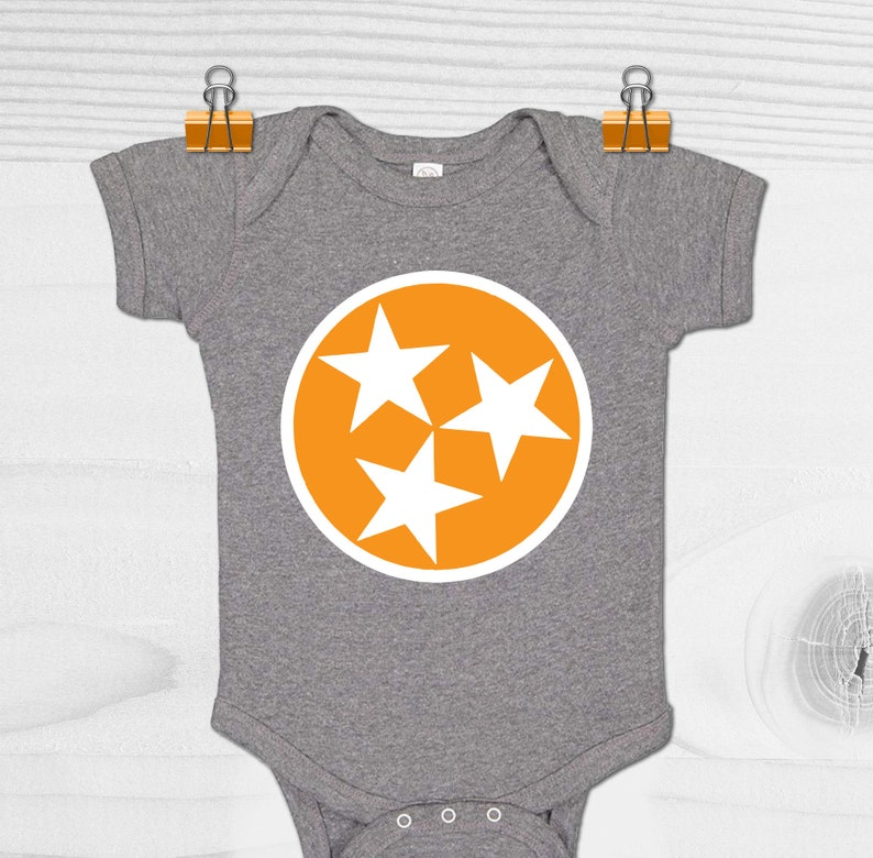 Tennessee Baby Gift Tennessee Tristar Baby Bodysuit Tristar Baby Gift Tennessee Volunteers Baby Clothes Tennessee Baby Shower Gift