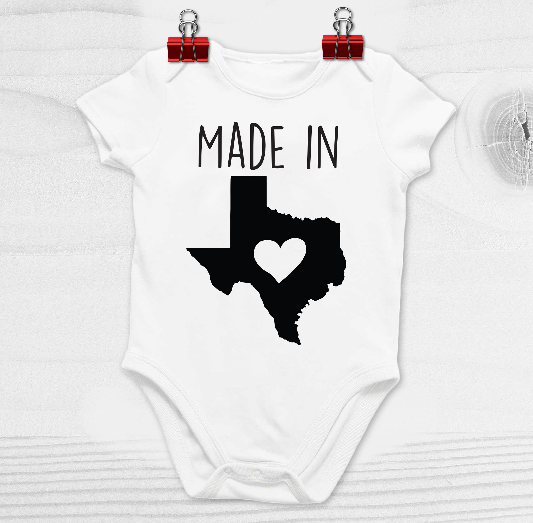 Made in Texas Baby Shirt