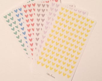Pastel Heart Stickers - For Emma