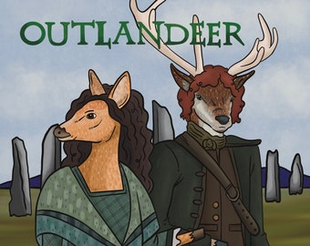 Outlandeer   Outlander Parody   Deer Parody   Video Game Art   Deer Art   Funny Deer Gift