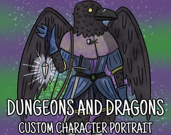Custom DnD Character Portrait   DnD Character   Custom Portrait   DnD Gift   Custom DnD Art
