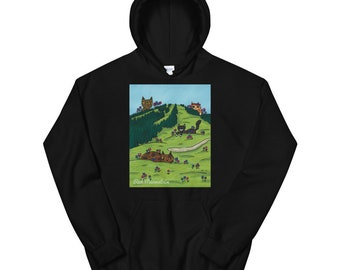 Red Meowntain   Red Mountain BC   Canadian Landscape   Unisex Hoodie