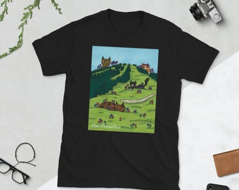Red Meowntain   Red Mountain BC   Canadian Landscape   Unisex T-Shirt
