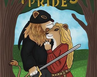 The Princess Pride (Animal Parody)   Movie Parody Art Print   Princess Bride Print   Lion Art Print   Westley and Buttercup