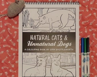 Unnatural Dogs and Natural Cats Colouring Book   Coloring   Kids Coloring   Patterns   Mandalas   Kootenays BC