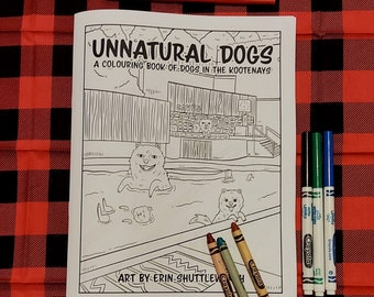 Unnatural Dogs Colouring Book   Dog Coloring   Kids Coloring   Patterns   Mandalas   Kootenays BC with Dogs   Dog Book