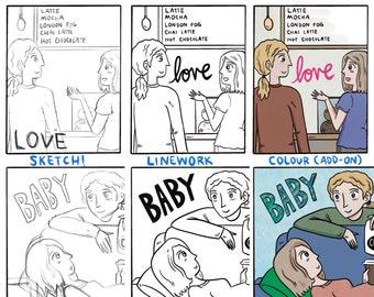 Custom Comic   Comic Commission   Custom Art   Unique Gift