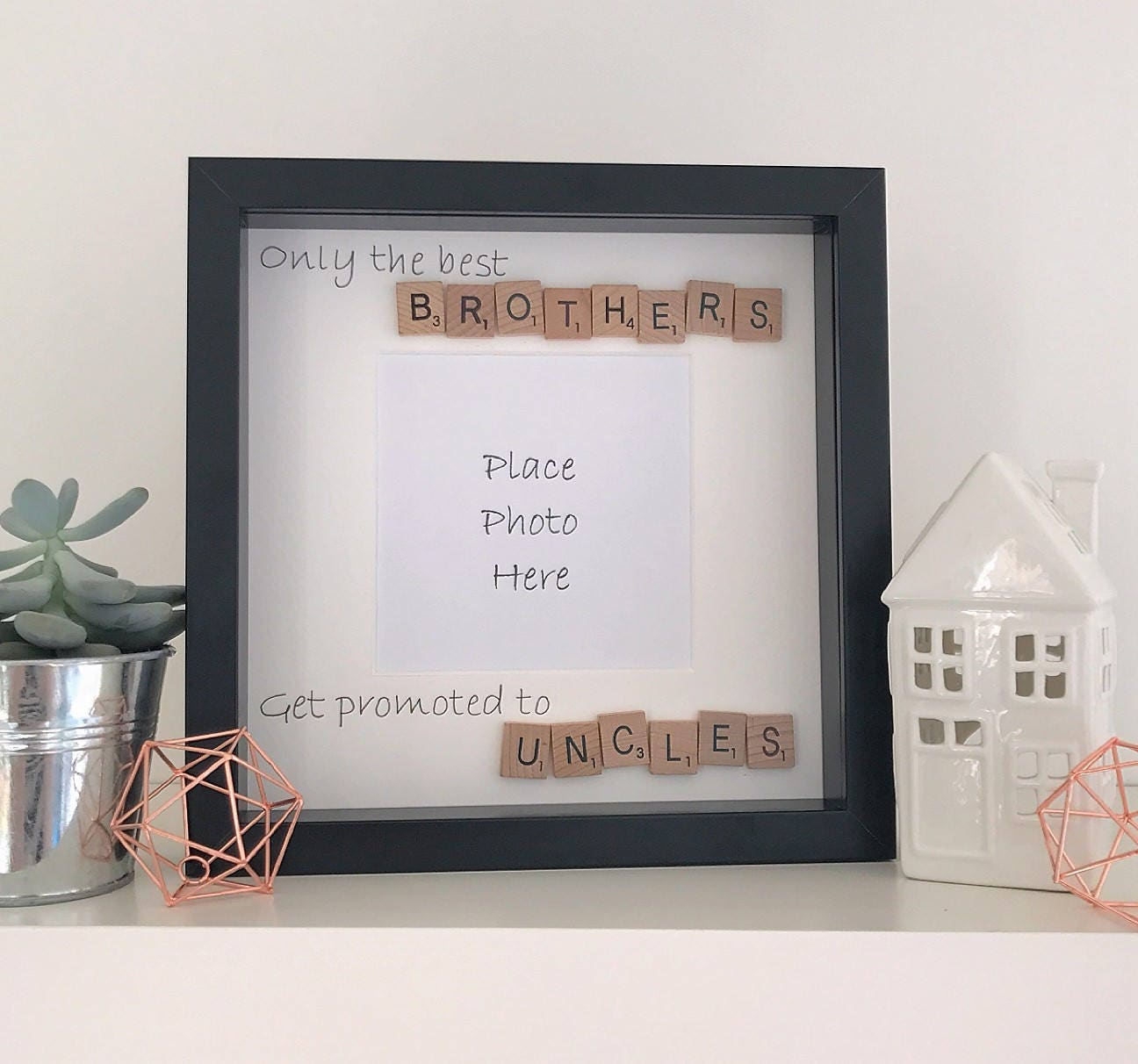 scrabble frame photo frame picture frame brother uncle | Etsy