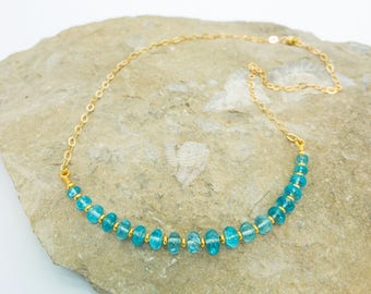 Apatite and Gold Vermeil Necklace