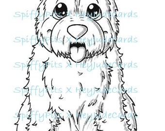 Digital Stamp or Coloring Page - Westie Dog Breed Stamp - A portion of every sale to RESCUES!!!