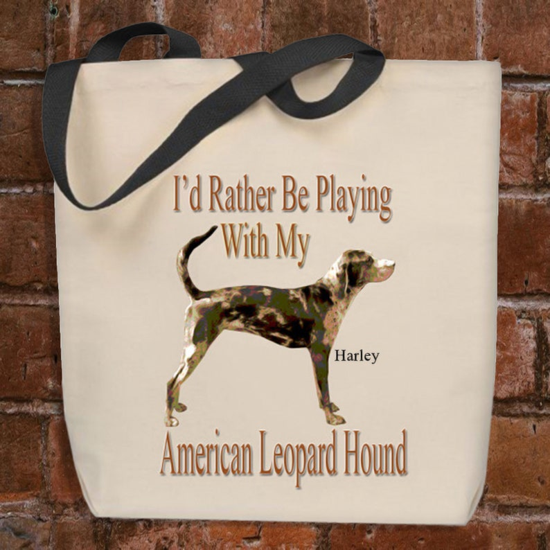 American Leopard Hound Tote Bag Personalized