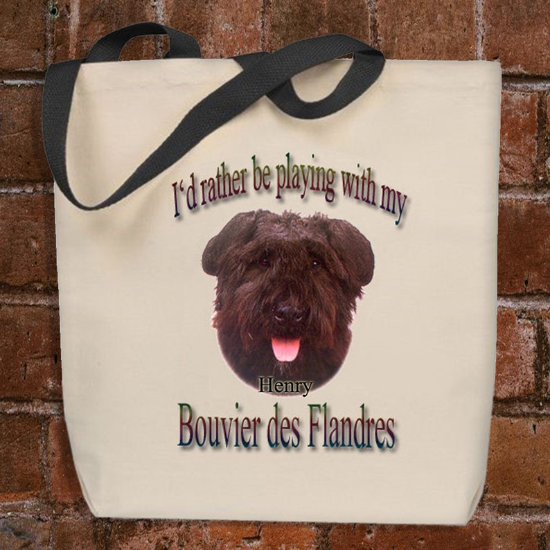 Bouvier des Flandres Tote Bag Personalized