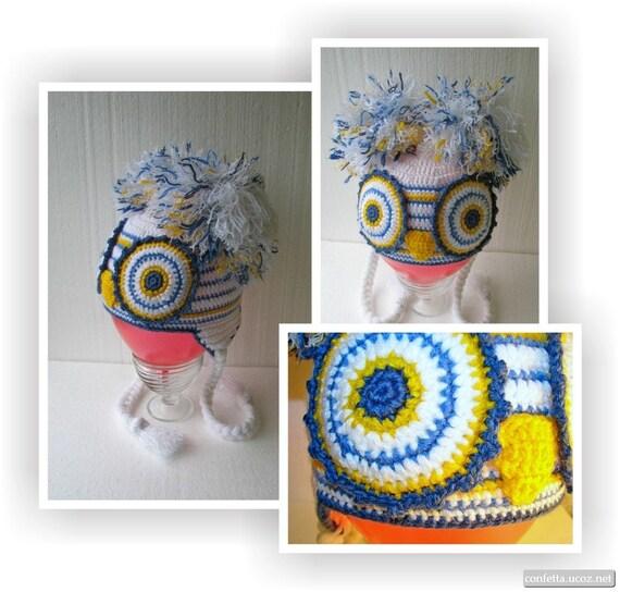 Baby Mütze häkeln stricken Hut Eule Winter Zverošapka eine | Etsy