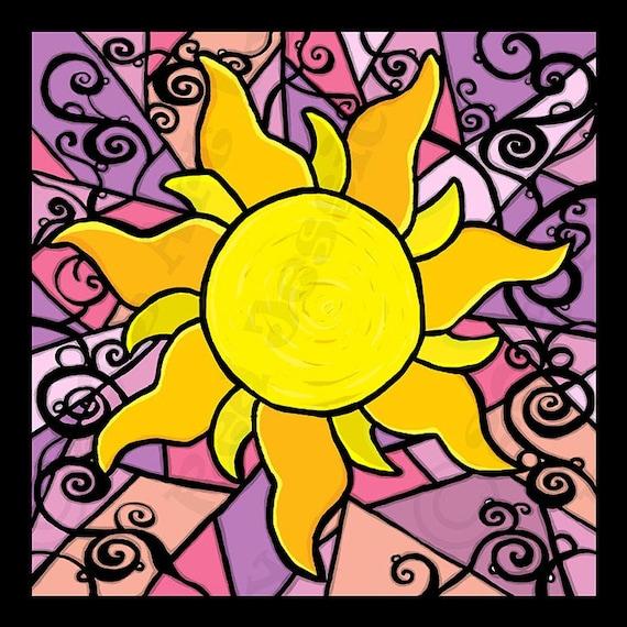 Sun Symbol From Tangled Etsy