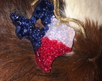Texas flag scent ornament