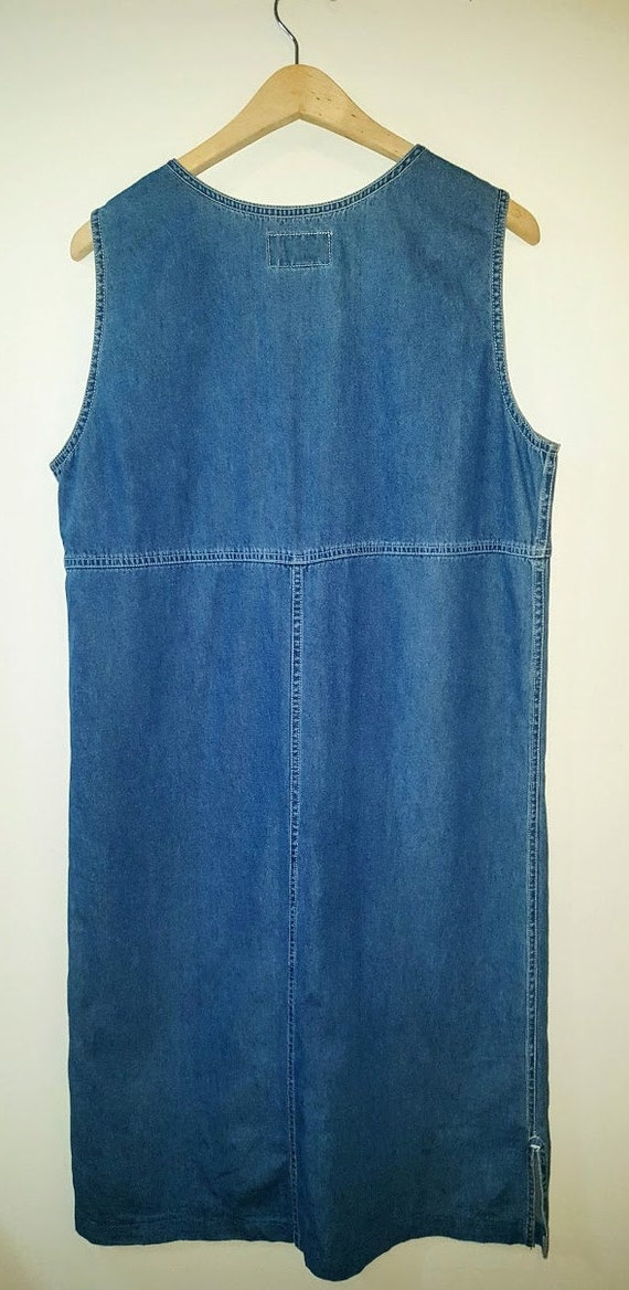 Women's Denim Smock Dress Vintage Chambray - image 2