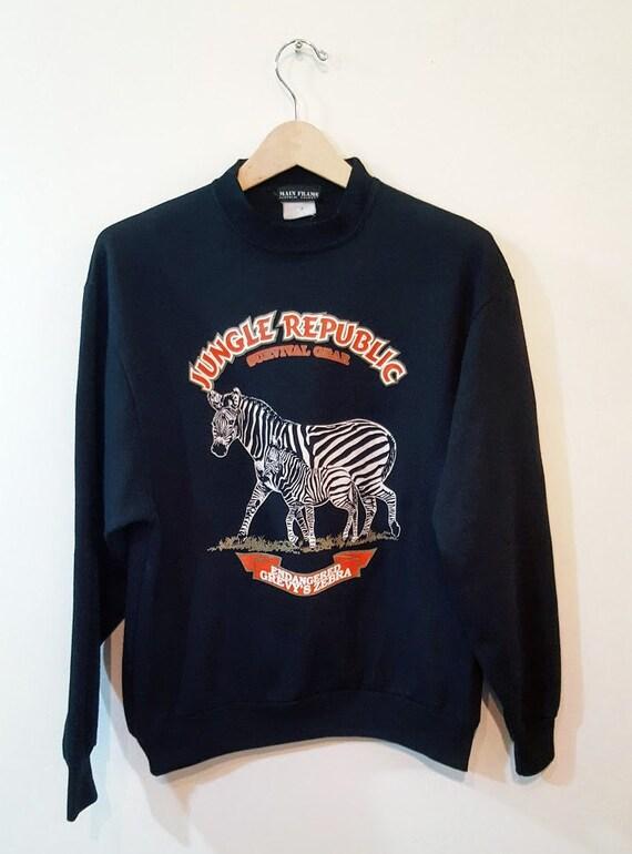 Printed Zebra Sweatshirt