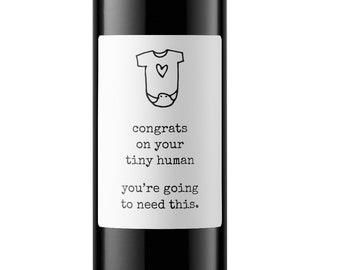 New Parent Gift, New Baby Gift, Tiny Human Gift, Baby Shower Gift, Birth Gift, Push Present, Funny Baby Gift, Cheeky Baby Gift, Easy Gift