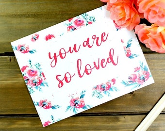 Valentine Card, Floral Card, Card For Mom, Pretty Card for Mom, Anniversary Card, Grandma Card, Card for Mum, Mum Card, Card for Her