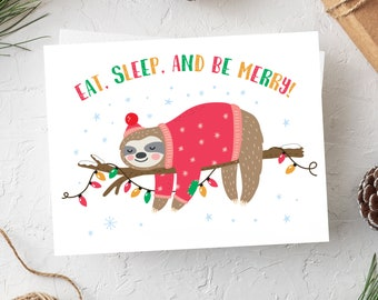 Sloth Christmas Cards, Slothmas Card, Sloth Christmas, Cute Cards, Christmas Card, Cute Christmas Cards, Set of Cards, Sloth Card Set