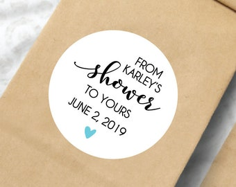 Bridal Shower Stickers, Bridal Shower Stickers for Favors, From My Shower to Yours, Personalized Bridal Shower Labels, Bridal Shower Favors