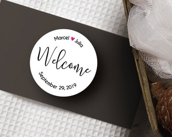 Welcome Stickers, Welcome Label, Wedding Welcome Bags, Wedding Welcome Bag Tags, Wedding Welcome Box, Destination Wedding Favors