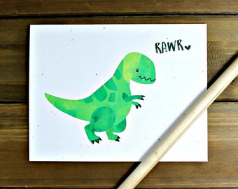 Dinosaur Card, Dinosaur Valentines Card, Rawr Means I Love You in Dinosaur, Trex Card, T-Rex Card, Trex Valentine's Day, Dino Love Card
