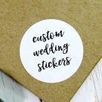 Custom Wedding Stickers, Wedding Label, Custom Wedding Labels, Bespoke Stickers, Wedding Favor Stickers, Custom Wedding (11-0001-036)