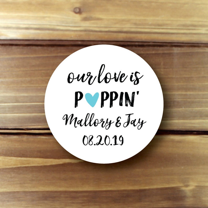 Our Love is Poppin Our Love is Popping Popcorn Stickers image 0