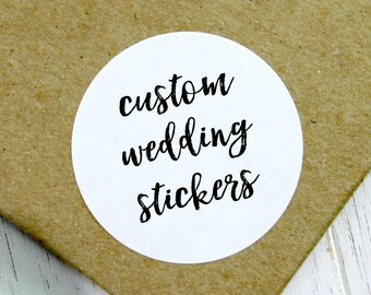 Custom Wedding Stickers, Wedding Label, Custom Wedding Labels, Wedding Stickers, Wedding Favor Stickers, Custom Wedding (11-0001-036)