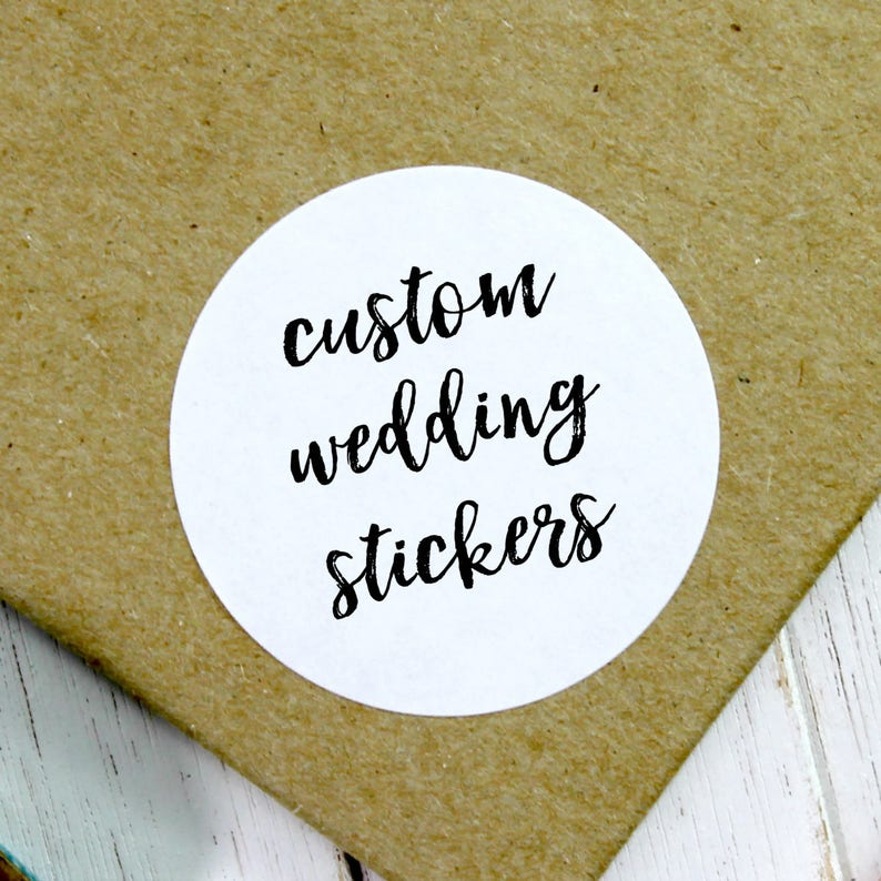 Custom Wedding Stickers Customized Sticker Wedding Label image 0