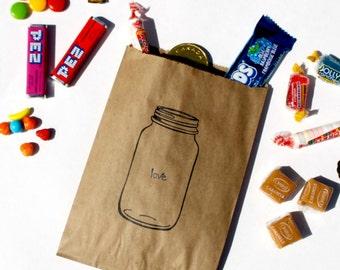 Wedding Candy Bags, Wedding Favor Bags, Candy Buffet Bags, Mason Jar Favors, Kraft Paper Bag, White Paper Bag, Notion Bag, Candy Bag