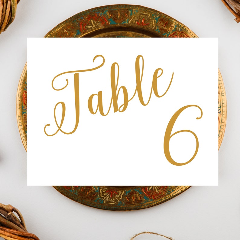 Simple Wedding Table Numbers Table Number Signs Wedding image 0