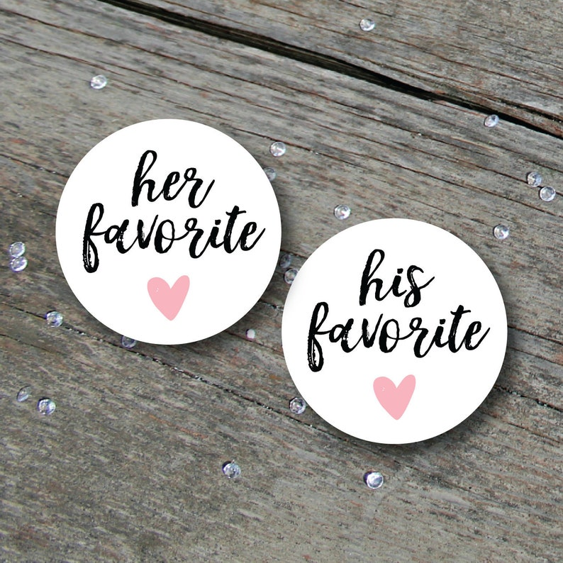 His Favorite Her Favorite Sticker His & Hers His and Hers image 0