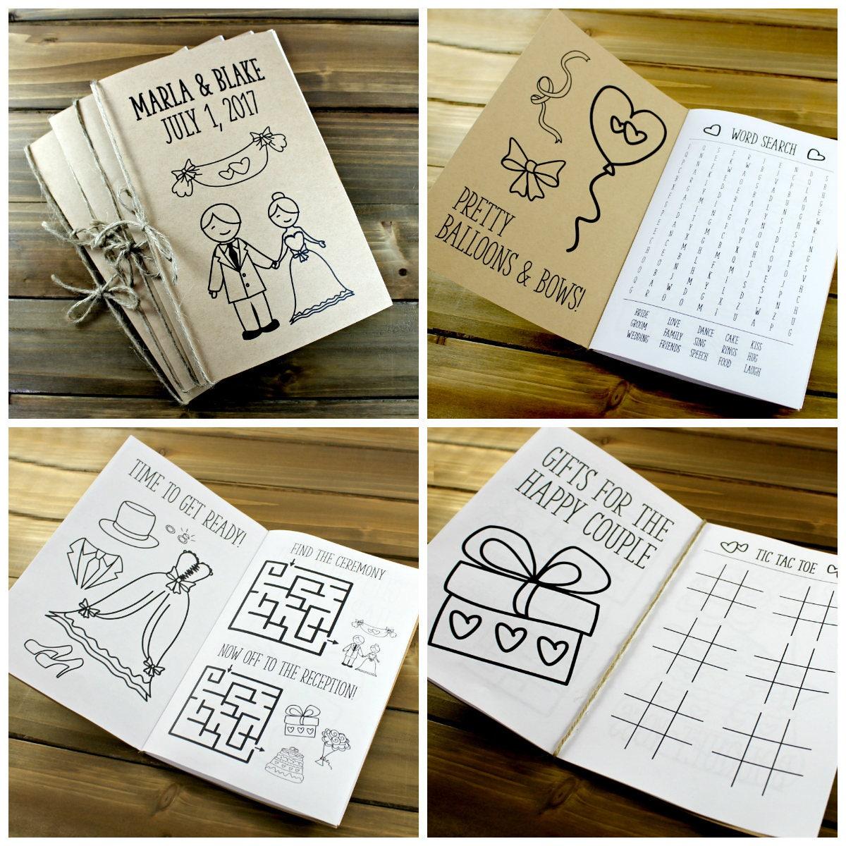 Wedding Activity Book, Wedding Coloring Book, Kids Wedding Activity ...